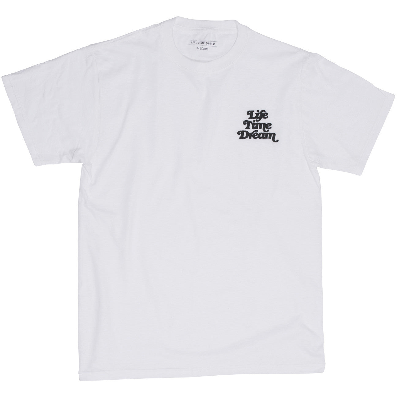 EMBROIDERED LOGO T WHITE / BLACK