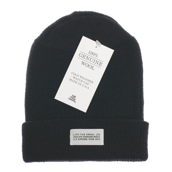 Black Wool Watch Cap
