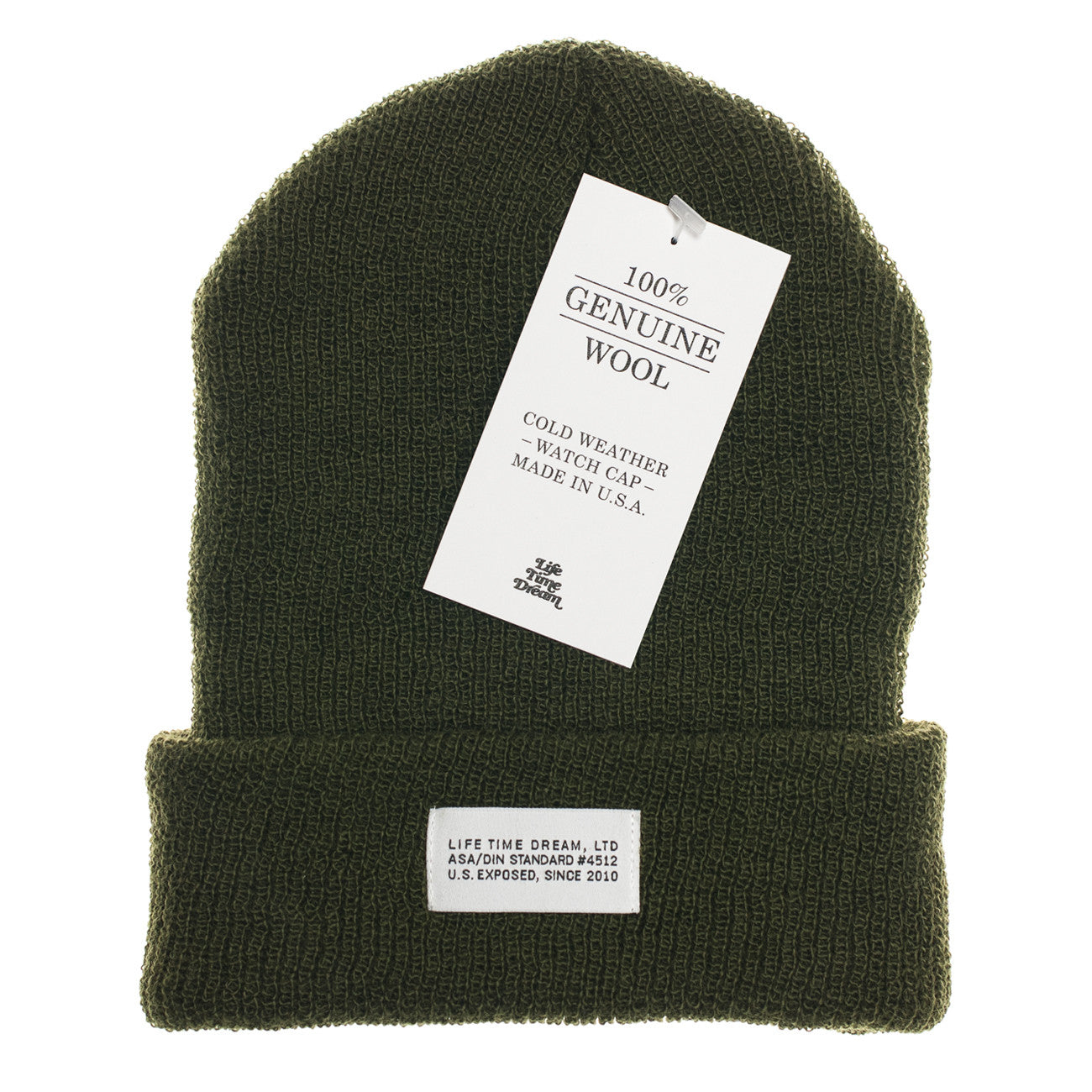 Olive Wool Watch Cap