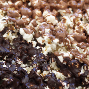 Chocolate-covered popcorn