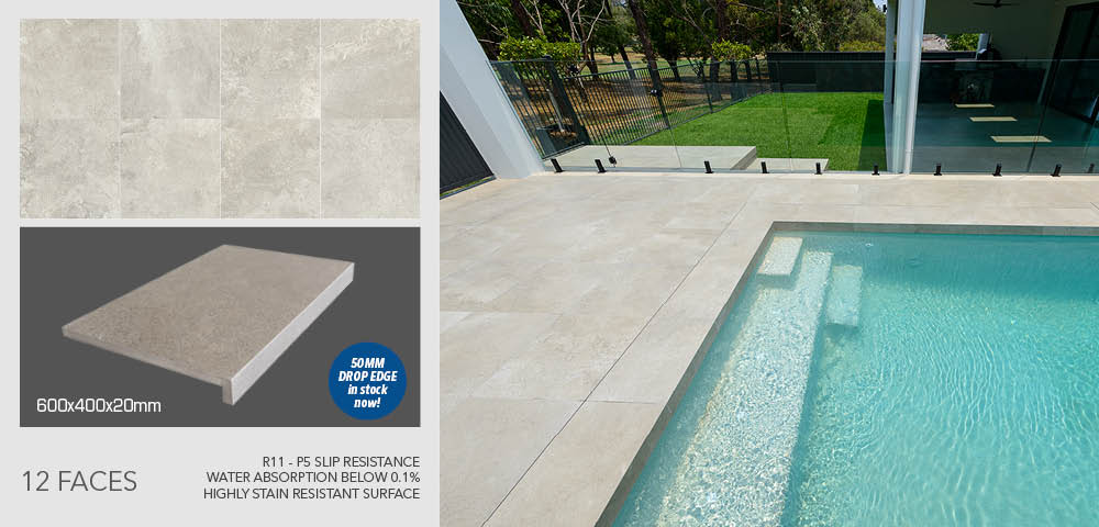Nuage Grigio pool coping