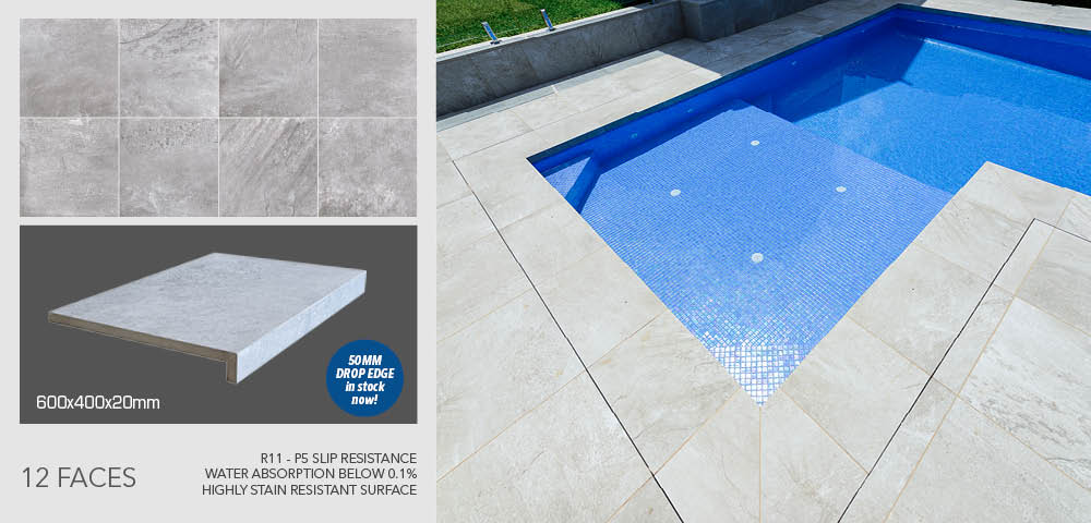 Shale Grey pool coping