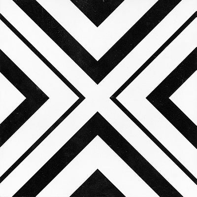 KEYS GEOMETRIC BLACK MATT 200X200