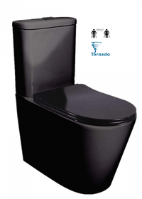 FEANZA BLACK TORNADO TOILET SUITE
