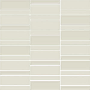 AC-06717D 300X300 CONTEMPO CREAM GLASS MOSAIC