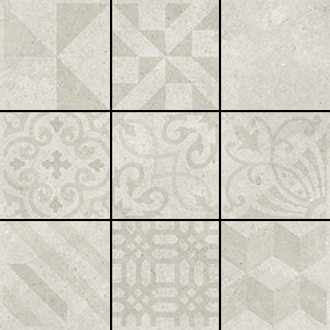 AC-3321D 200X200 LUCCA PALE SILVER MIXED DECOR