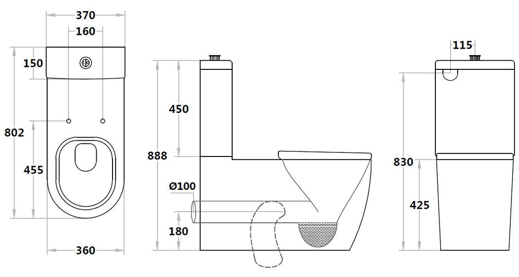 Special Care Toilet Asta Care Rimless Toilet Suite AS800