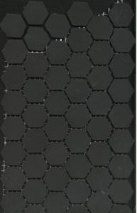 BHEX009-BONITA HEXAGON BLACK 23X23
