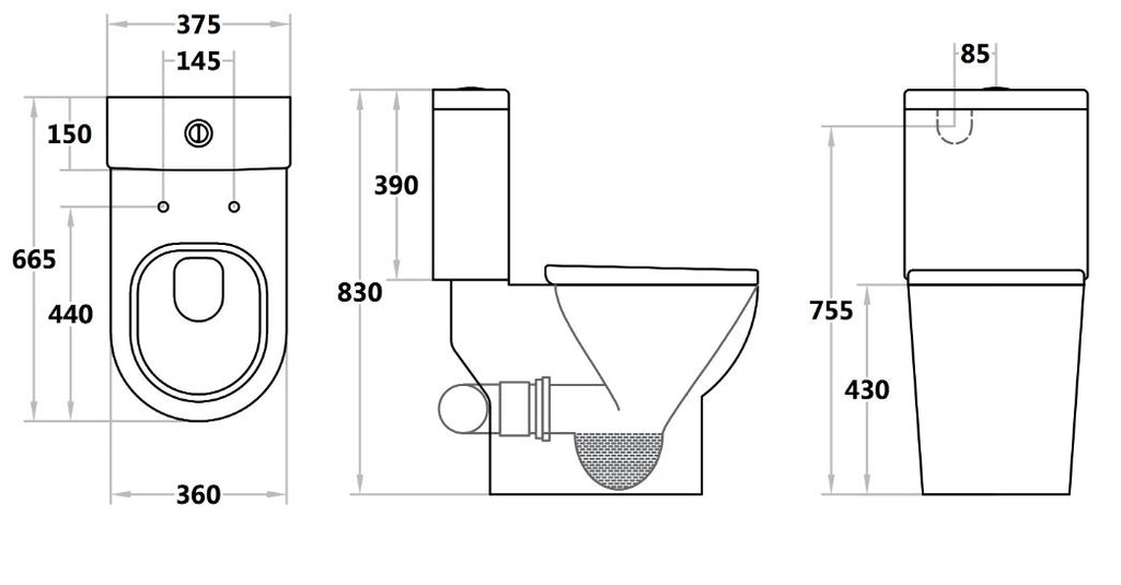 Special Care Toilet Bela Skew Toilet Suite BE018