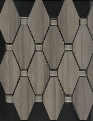 CAM043-CAMELOT COFFEE STONE ASH HONED OCTAGON 50X100