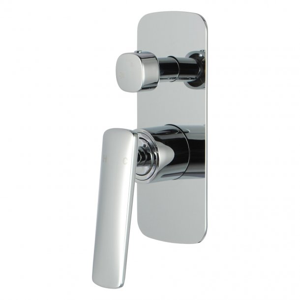CH0157.ST Bathroom Chrome Shower-Bath Wall Mixer with Diverter Solid Brass AQ