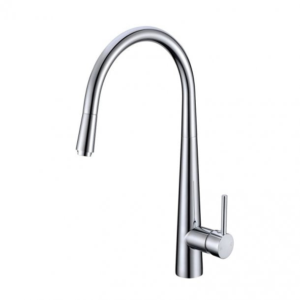 CH1021.KM Round Chrome 360° Swivel Pull Out Kitchen Sink Mixer Tap Solid Brass AQ