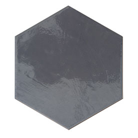 DISCHWH3-2390W DISCOVERY CHARCOAL WAVY GLOSS HEXAGON 260X300