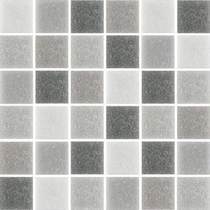 GEM054-GEMSTONE SILVER GREY GLASS 20X20