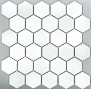 HEX003-22HE-6110 HEXAGON GLOSS/SATIN WHITE 48X48