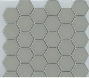 HEX042-HE48374 HEXAGON GLOSS LIGHT GREY 48X48