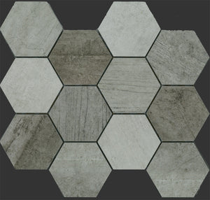 INDMIXA-INDUSTRIE HEXAGON MOSAIC MIX 86X86