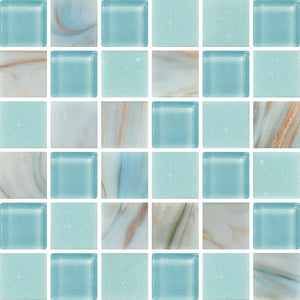 PRL074-PEARL POWDER BLUE GLASS 20X20