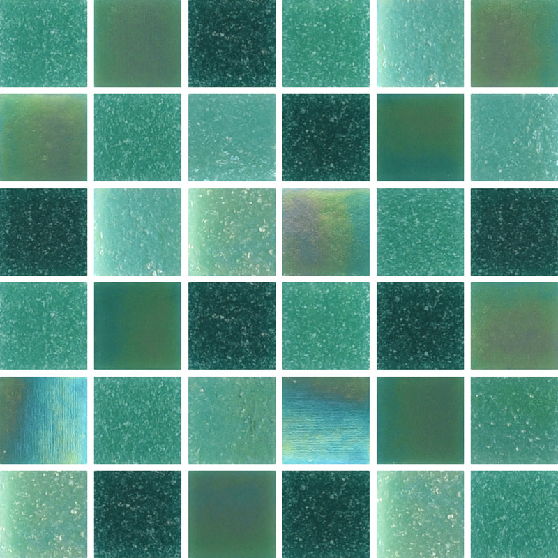 PRL078-PEARL JADE GREEN GLASS 20X20