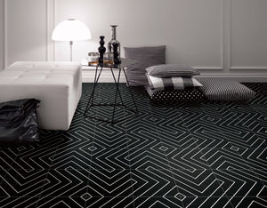 KEYS CHEVRON BLACK MATT 200X200