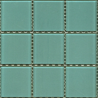 SPR079-B52 SPRING TEAL BLUE GLASS POOL MOSAIC 48X48MM