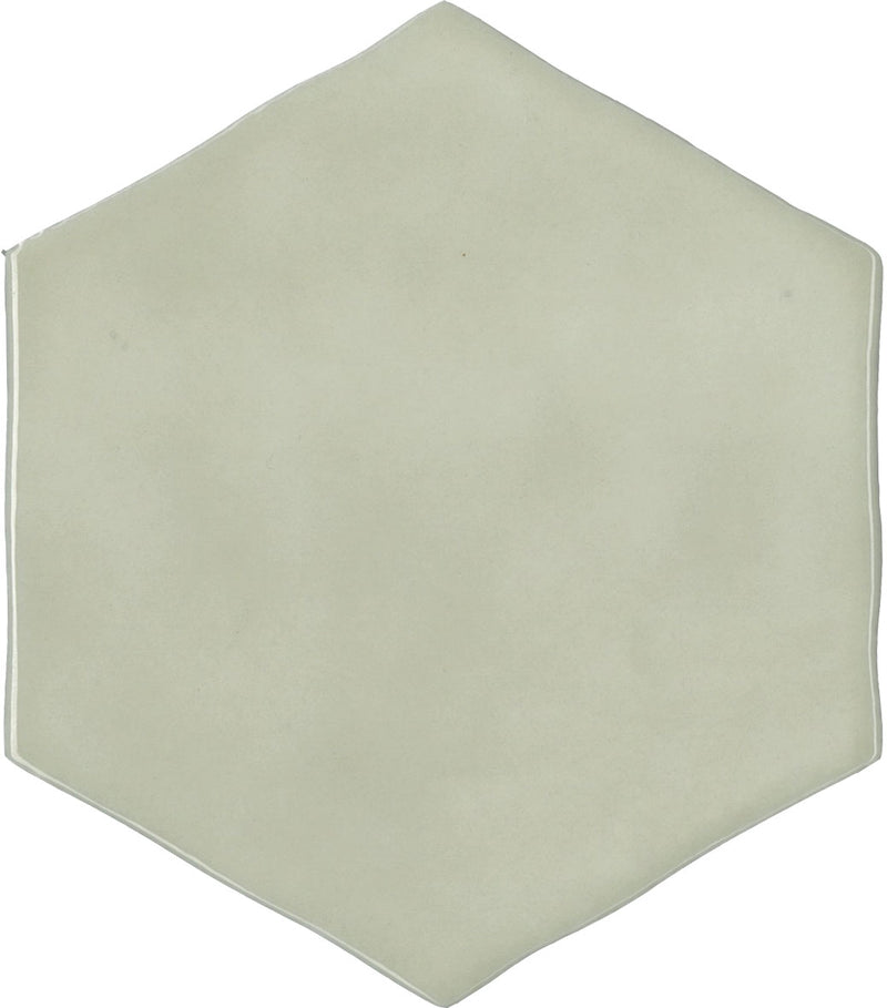 TOUSAH1-TOUH75156 TOUCH SAGE HEXAGON GLOSS 130X150