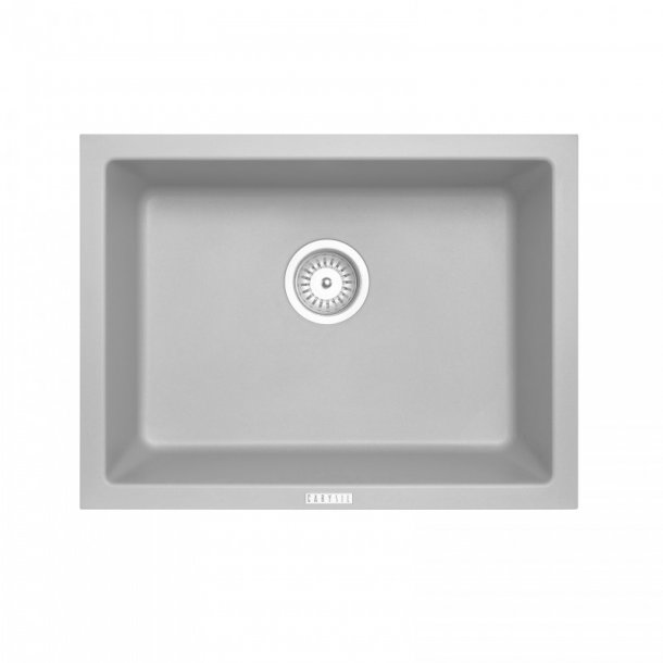 TWM6145-G 610 x 457 x 205mm Carysil Concrete Grey Single Big Bowl Granite Kitchen-Laundry Sink Top-Flush-Under Mount AQ