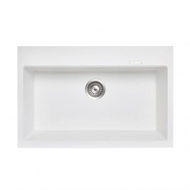 TWMW780-W 780 x 510 x 220mm Carysil White Single Bowl Granite Stone Kitchen Sink Top-Under Mount AQ