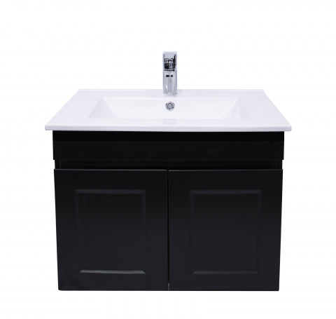 HAMPTON MATTE BLACK VANITY 600MM