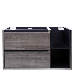 AMAZON GREY WITH RIGHT HAND SHELVES VANITY 900