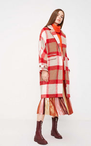 Vera Long Plaid Coat