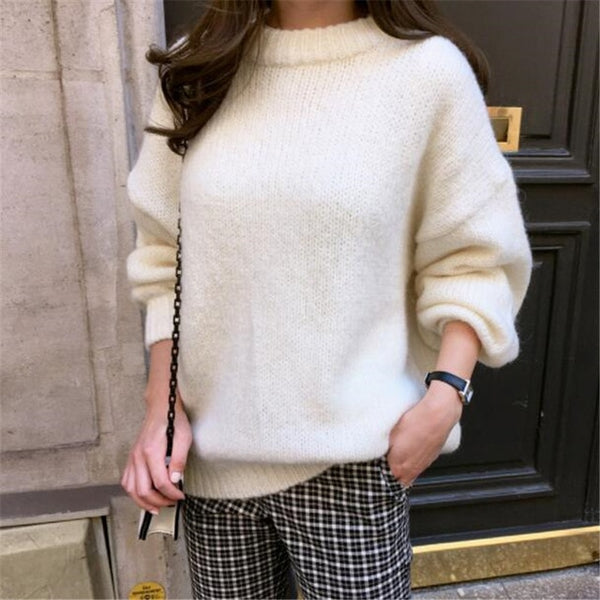 Solid Oversize Pullover Sweater
