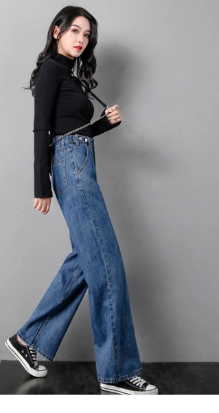 High Waist Loose Wide Leg Jeans