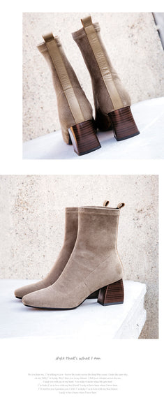 Simple Suede Booties