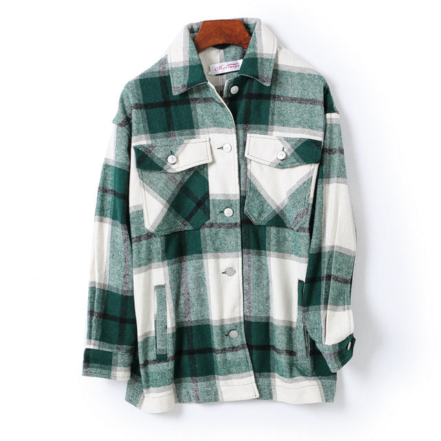Winter Plaid Button Up Shirt