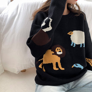 Lola Cartoon Pullover