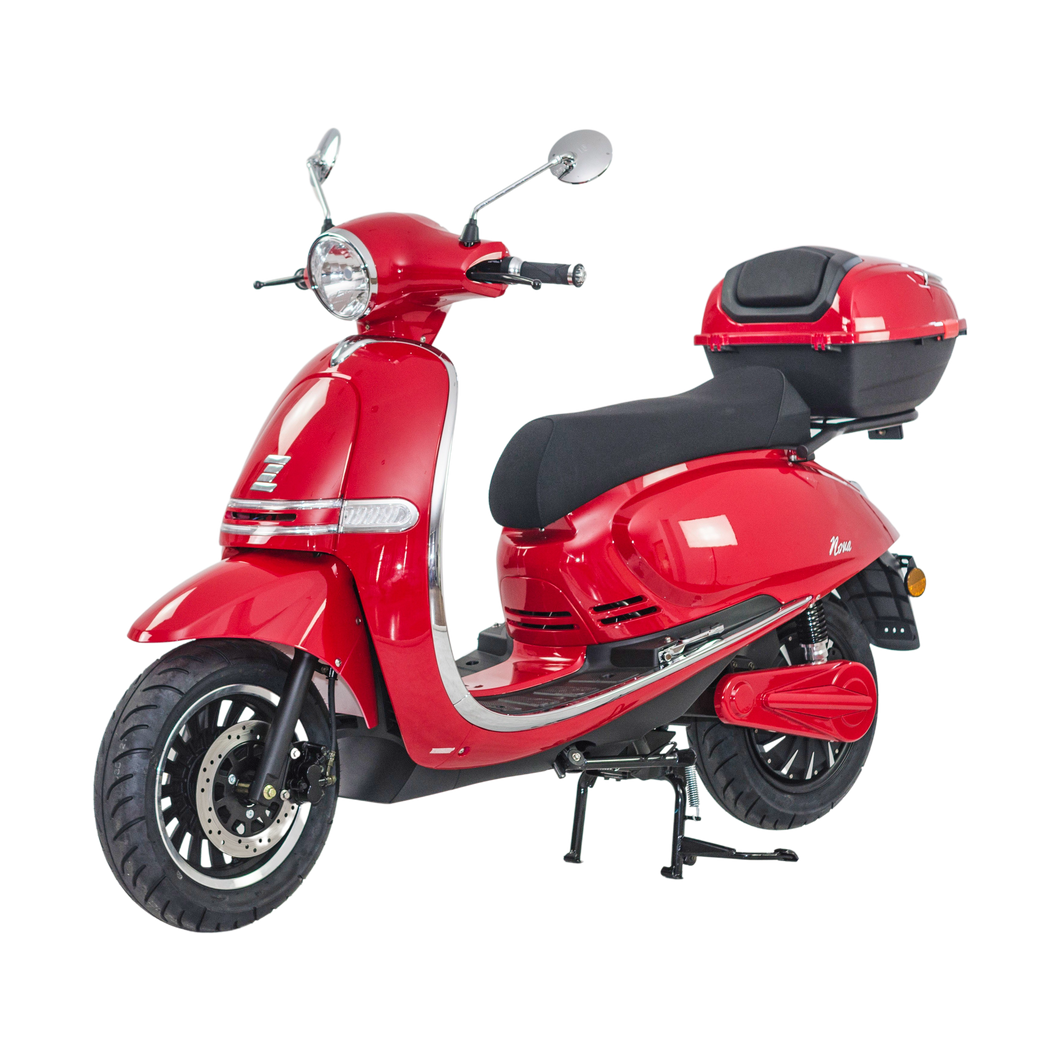 Zoopa Nova Long Range Cherry Electric Moped - 80km Range