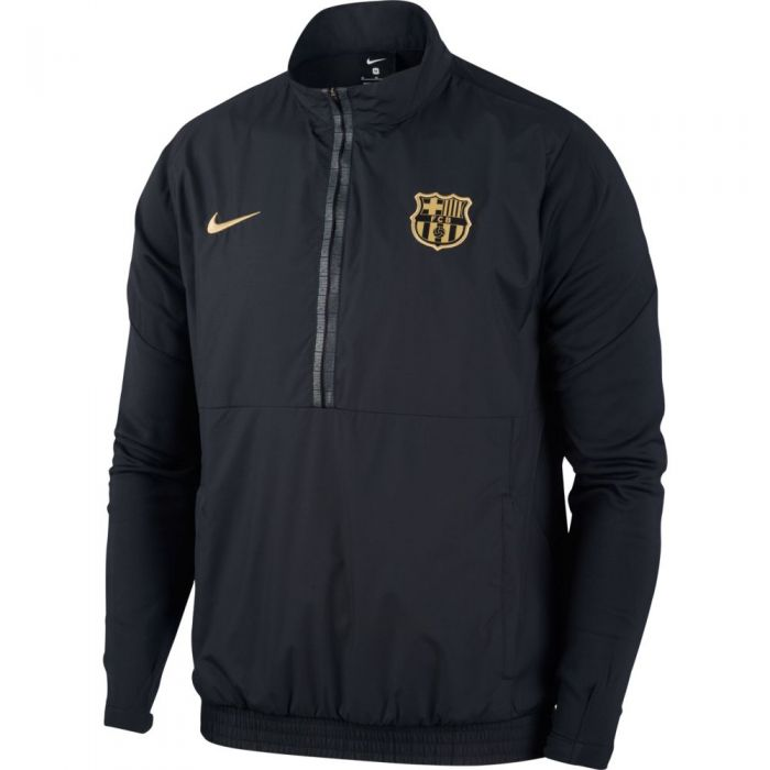 Barcelona 2020-21  Woven Track Jacket - Black-Gold