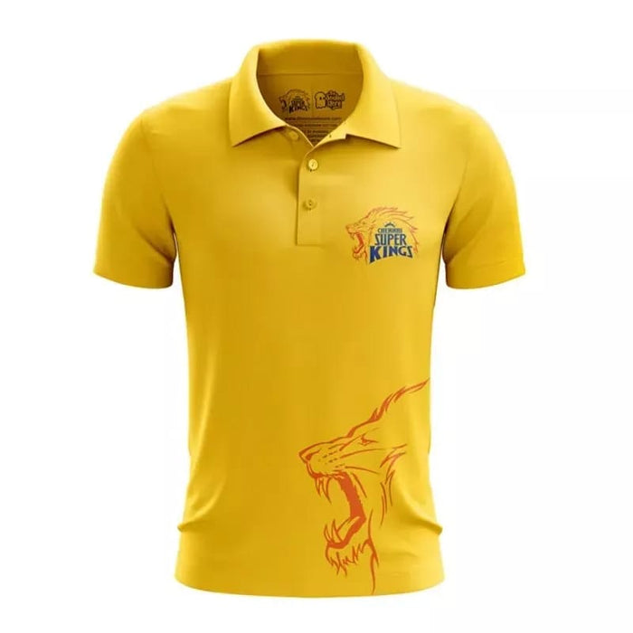 CSK Fan T Shirt Yellow