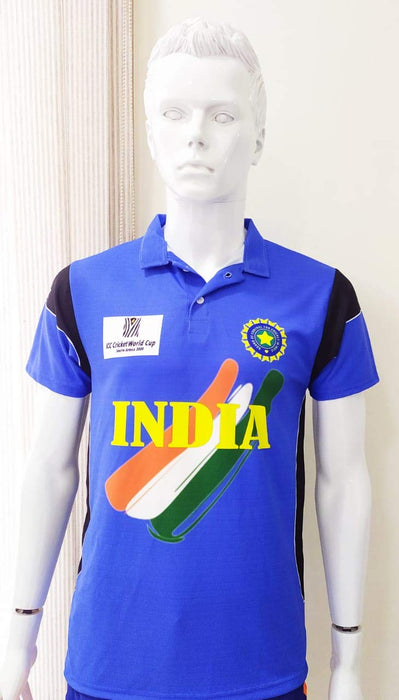 Indian Cricket World cup Jersey 2003 Without Name & No.