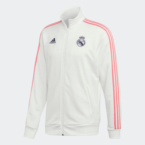 Adidas 2020-21 Real Madrid 3 Stripes Jacket - White-Pink