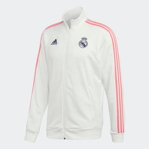 2020-21 Real Madrid 3 Stripes Jacket - White-Pink