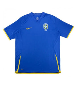 BRASIL 2008-10 RETRO AWAY FOOTBALL JERSEY