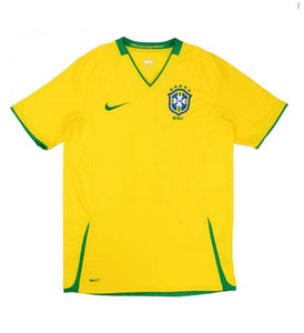 BRASIL 2008-10 RETRO HOME FOOTBALL JERSEY