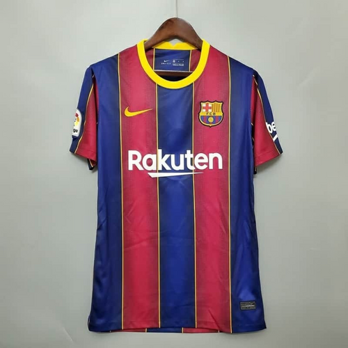 Barcelona Home 2020/21 With Name & No.