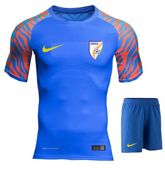 India Football Blue Jersey With Name & No.