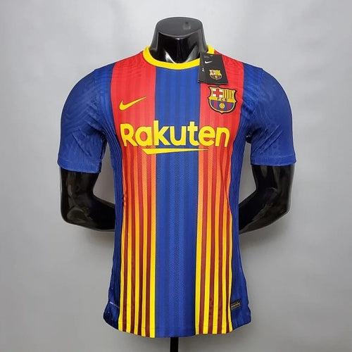 Barcelona Fourth 2020/21 With Name & No.