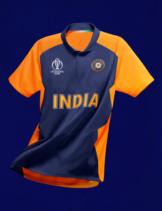 Indian Away WC 2019 Jersey with WC Logo
