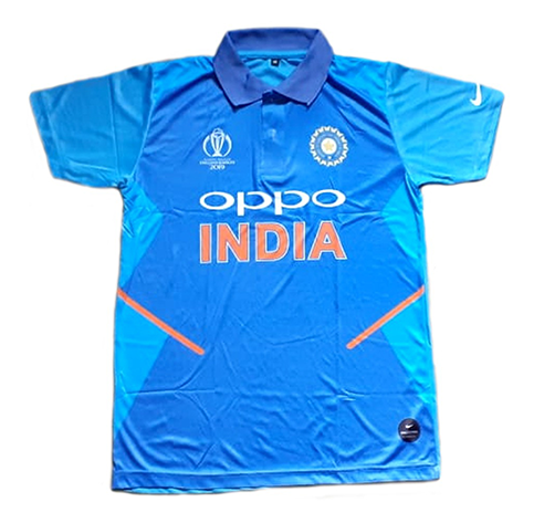 Indian Cricket WC 2019 Jersey with WC Logo