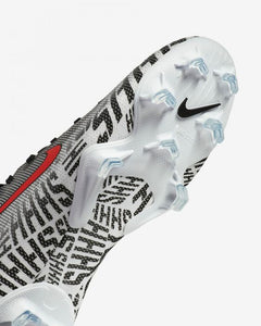 JR Vapor 12 Elite Neymar FG - White-Black-Red